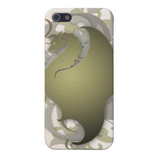 Olivgrüner städtischer Fantasie-Drache iPhone 5 Hüllen