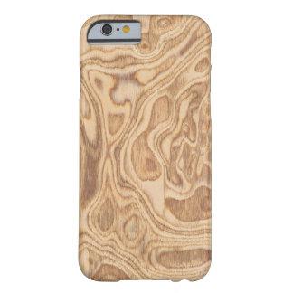 Olivgrünes Aschen-Knoten-Furnier-Blatt wirklicher Barely There iPhone 6 Hülle