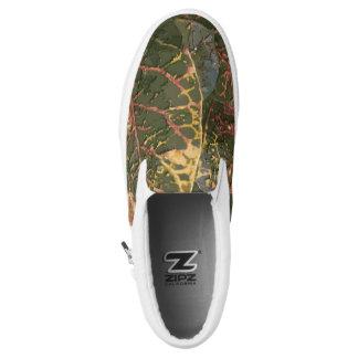 Olivgrünes Blatt Slip-On Sneaker