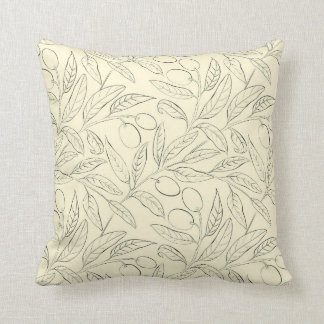 Olivgrünes dekoratives Wurfs-Kissen im Kissen