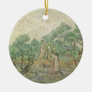 Olivgrünes Sammeln durch Vincent van Gogh, Vintage Keramik Ornament