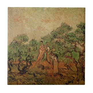 Olivgrünes Sammeln Van Gogh, Vintage feine Kunst Fliese