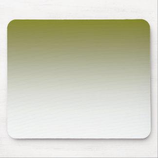 Olivgrünes weißes Ombre Mousepad