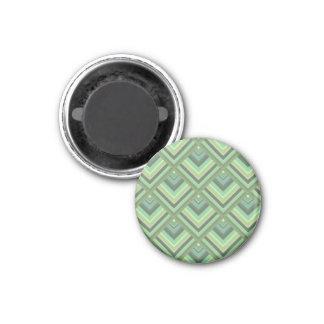 Olivgrünstreifen-Skalamuster Runder Magnet 3,2 Cm