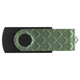 Olivgrünstreifen-Skalamuster USB Stick