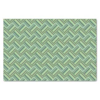 Olivgrünstreifenwebart Seidenpapier