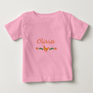 Olivia (orange Schmetterling) Baby T-shirt