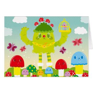 OLLABOKU Frühlings-Monster Grußkarte