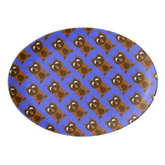 Ollie die Eule Porzellan Servierplatte