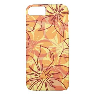 Olowalu Hibiskus-hawaiische Camouflage-Papaya iPhone 8/7 Hülle