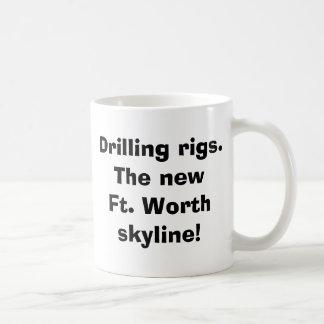 Ölplattformen.  Das neue ft. Worthskyline! Kaffeetasse