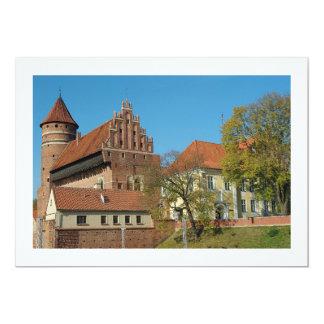 Olsztyn mittelalterliches gotisches Schloss III - 12,7 X 17,8 Cm Einladungskarte