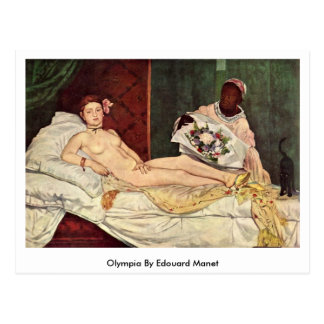 Olympia durch Edouard Manet Postkarte