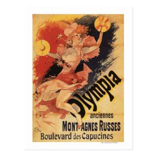 Olympia-Nachtklub-Mädchen-zusammenstoßende Becken Postkarte