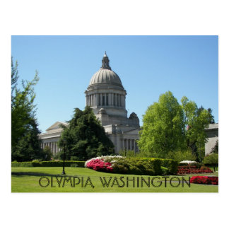 Olympia, Washington-Staats-Reise-Foto Postkarte