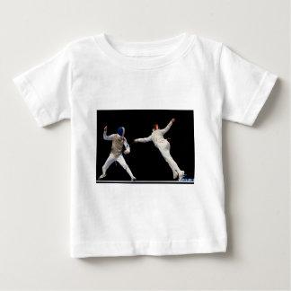 Olympische fechtende Laufleine und Abwehr Baby T-shirt