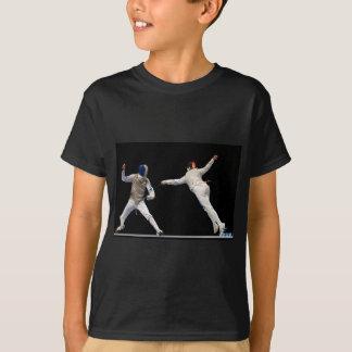 Olympische fechtende Laufleine und Abwehr T-Shirt