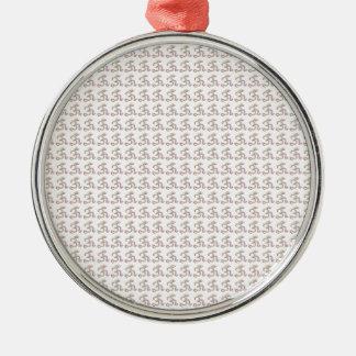 OM-Beschwörungsformel entwirft Muster 2016 Silbernes Ornament