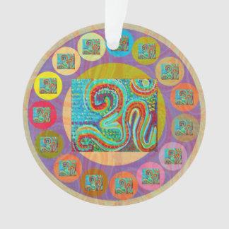 OM-Beschwörungsformel geistiger Ornament