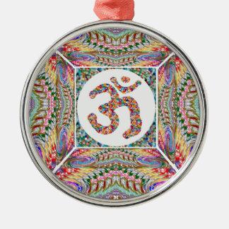 OM-Beschwörungsformel-Juwel-Sammlung Silbernes Ornament