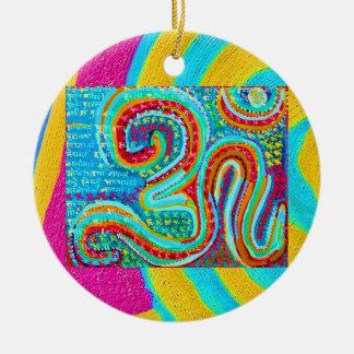 OM-Beschwörungsformel - OM 108mal geschrieben Keramik Ornament