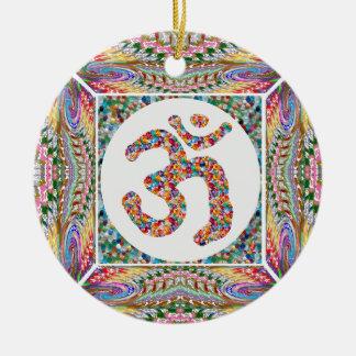 OM-BESCHWÖRUNGSFORMEL OmMantra Keramik Ornament