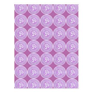 OM-Beschwörungsformel: OMMANTRA lila Gesang Postkarten