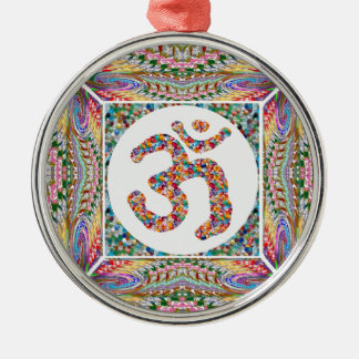 OM-BESCHWÖRUNGSFORMEL OmMantra Silbernes Ornament