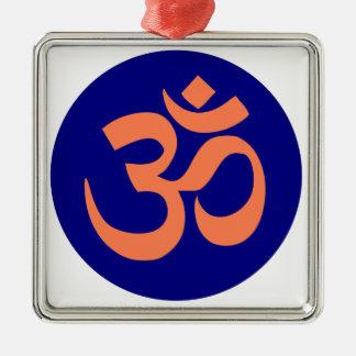 OM-Beschwörungsformel-Yoga Silbernes Ornament