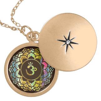 OM-Blume (dunkel) Amuletten