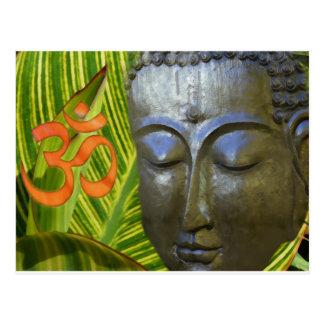 OM Buddha im Gesamtuniversum von Buddhahood Postkarte