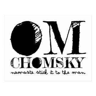 OM Chomsky Postkarte