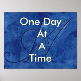 OM ein Tag auf einmal (Slogan) Poster