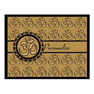 OM-Goldpostkarte personifizieren Postkarte