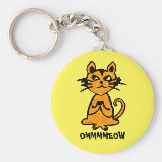 OM-Katze Keychain - lustige Yoga-Geschenke Schlüsselbänder