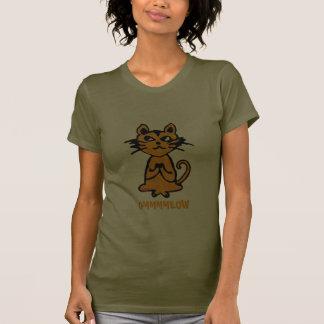 OM-Katze - lustiger Yoga-T - Shirt für Frauen