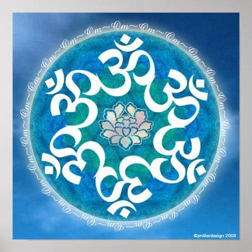 OM-Kreis-Schneeflocke-Mandala Posterdrucke