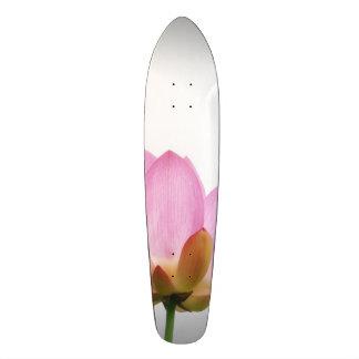 OM-Lotos-Rosa-Blumen-Blumenblätter Personalisiertes Skateboarddeck