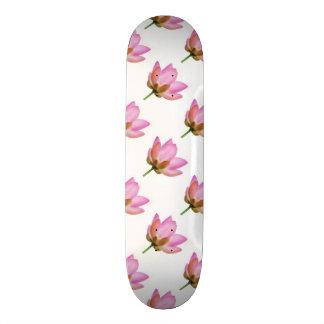 OM-Lotos-Rosa-Blumen-Blumenblätter Individuelles Skateboard