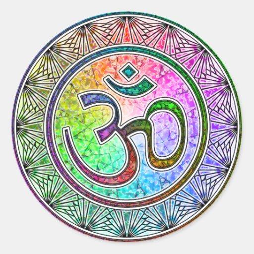 OM-Mandala Runder Sticker