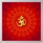 OM-Mandala-Entwurf Poster