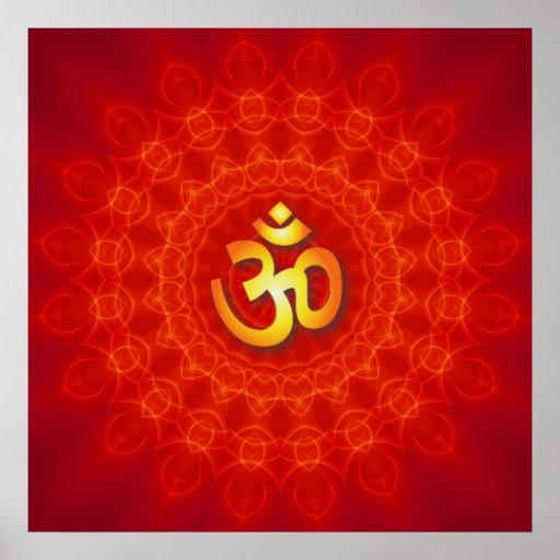 OM-Mandala-Entwurf Plakate