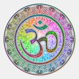 OM-Mandala Runder Aufkleber