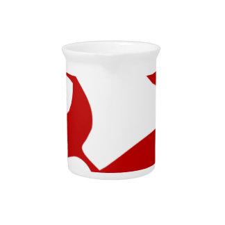 OM- oder Om-Symbol im roten, lichtdurchlässigen Getränke Pitcher