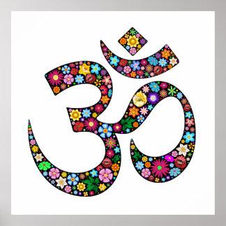 OM-Om Namaste Yoga-Symbolplakate Plakat