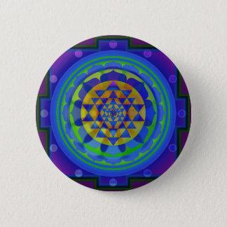 OM (OM) Yantra Mandala Runder Button 5,1 Cm
