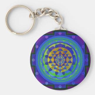 OM (OM) Yantra Mandala-Schlüsselkette Schlüsselanhänger