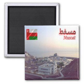 OM - Oman - Mascate - Boots-Verein Quadratischer Magnet