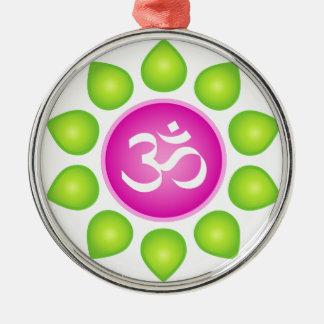 OM-Power Silbernes Ornament
