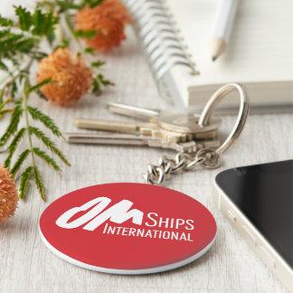 OM-Schiffs-Logo Schlüsselanhänger